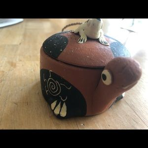Accents - Terracotta Snail with Frog Tea Light Candle holder